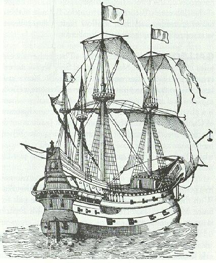 Spanish Galleon like the gold bearing vessel