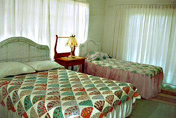 A bedroom in the first wing at Sunrise Villa Eleuthera